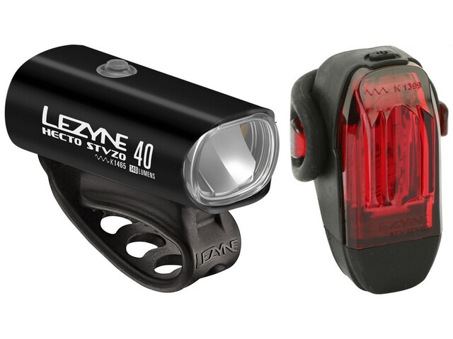 Lezyne Hecto+KTV Kit d'éclairages, glossy black